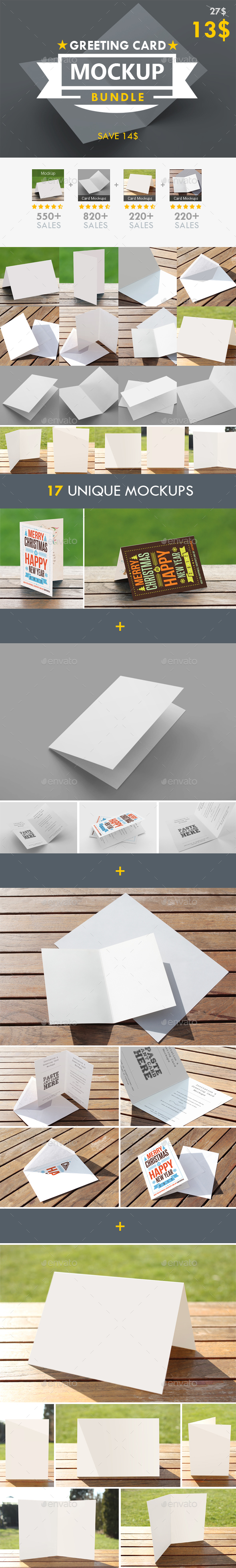 Greeting Card Mockup Bundle - Miscellaneous Print