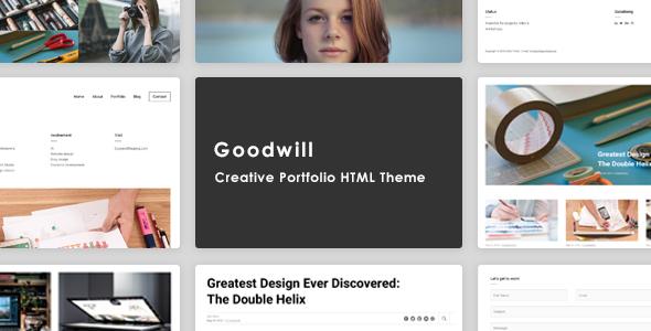 Goodwill – Creative, Clean, Portfolio Template - Portfolio Creative