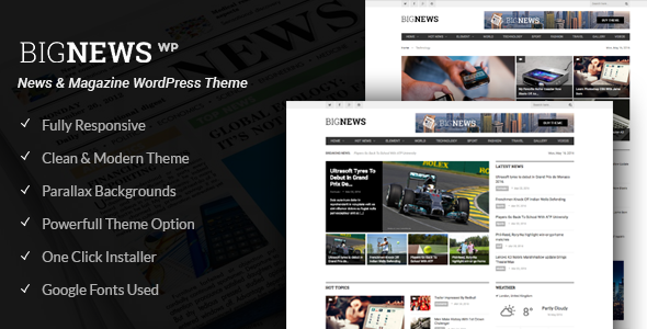 Big News - Newspaper WordPress Theme (News, Magazine, Blog)