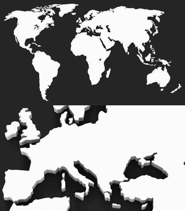 3D World Map High Res - 3DOcean Item for Sale