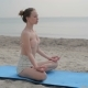 Portrait Of Young Woman Practicing Yoga In Summer Environment - VideoHive Item for Sale