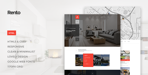 Rento - Real Estate HTML Theme - Corporate Site Templates