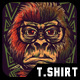 Nerd Monkey T-Shirt Design-Graphicriver中文最全的素材分享平台