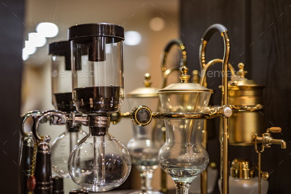Siphon coffee pot - Stock Photo - Images