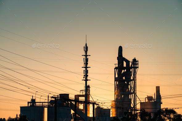 Cement plant - Stock Photo - Images