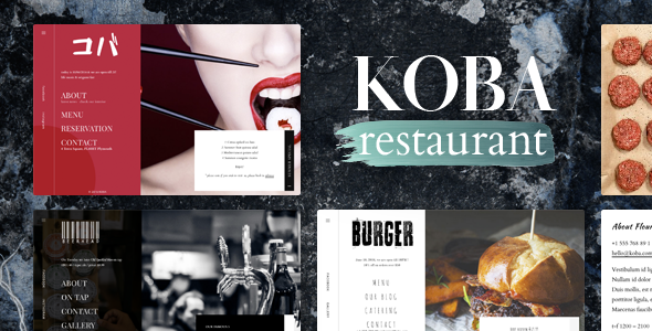 KOBA  – A Delicious Restaurant WordPress Theme