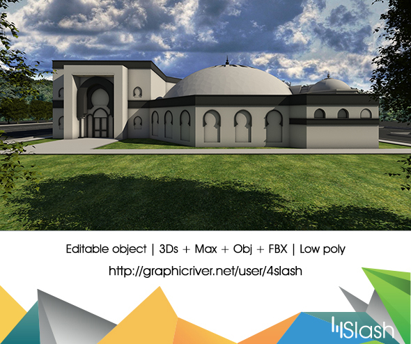 3d Mosque - 3DOcean Item for Sale