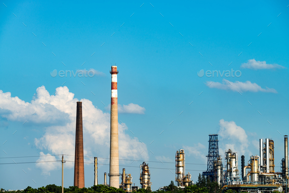 Oil refineries - Stock Photo - Images