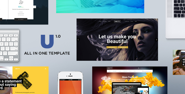 Unity - HTML Responsive Multi-Purpose Template