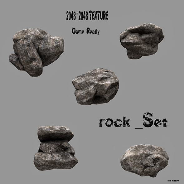 rock set - 3DOcean Item for Sale