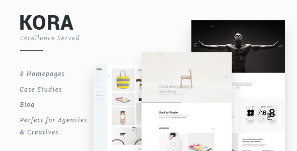 Kora - Portfolio Template for Agency & Freelancers - Creative Site Templates