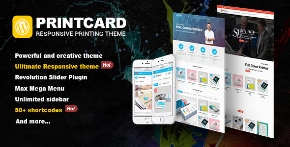 Printshop – WordPress Responsive Printing Theme