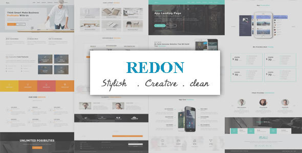 Redon-Multipurpose Landing Template - Corporate Site Templates