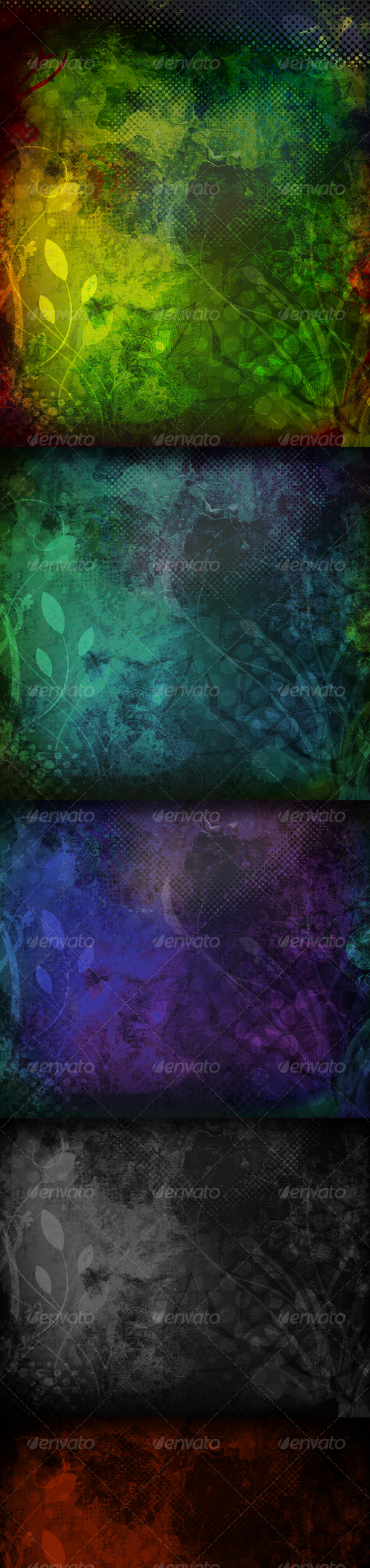 Grunge Dark Flourish Textures and Backgrounds - Backgrounds Graphics