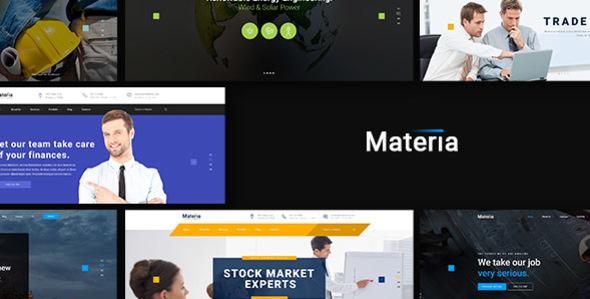 Materia – Consortium PSD Template