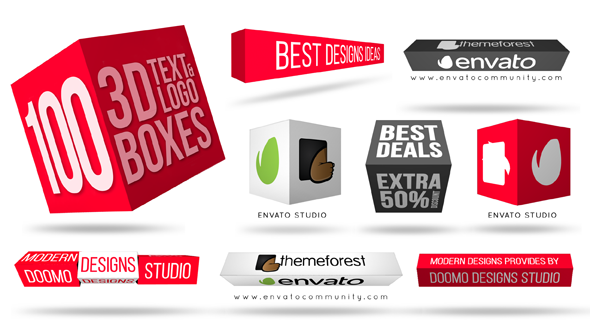 3D Text & Logo Boxes by doomodesigns | VideoHive