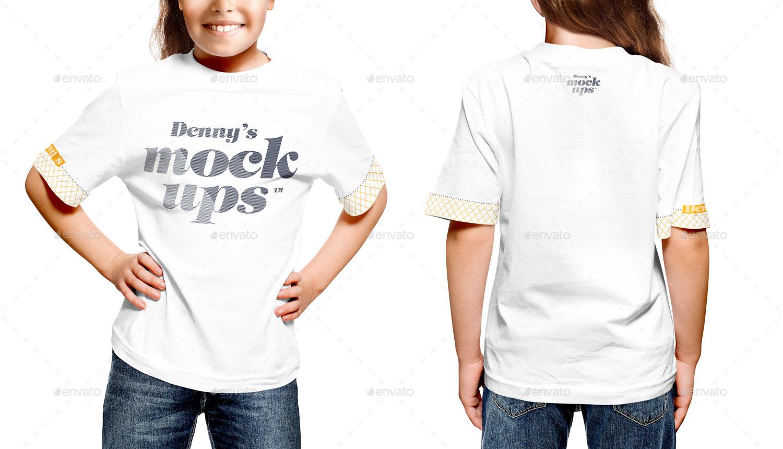 kids t shirt mockup
