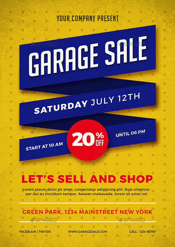 Garage Sale Flyer by vynetta | GraphicRiver