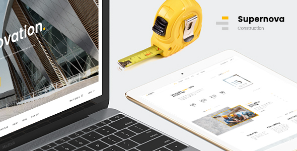 Supernova | Mutil-Concept Construction PSD Template - Corporate PSD Templates