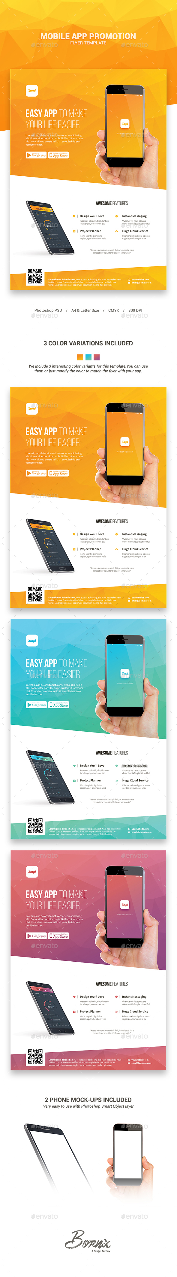 Mobile App Promotion Flyer Template - Commerce Flyers