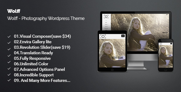 Wolff - Creative Photography WordPress Theme - Photography Creative