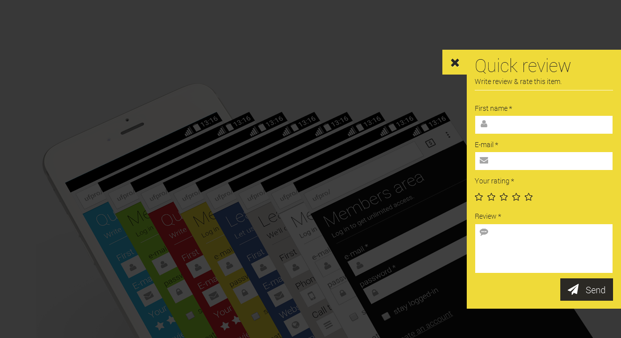 Responsive Form Template - Inline & Floating by SourceAssassins ...