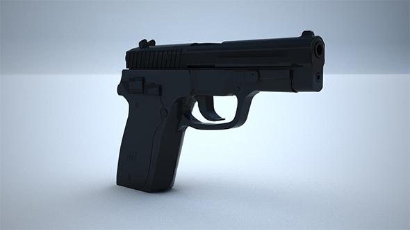 9mm Pistol  - 3DOcean Item for Sale