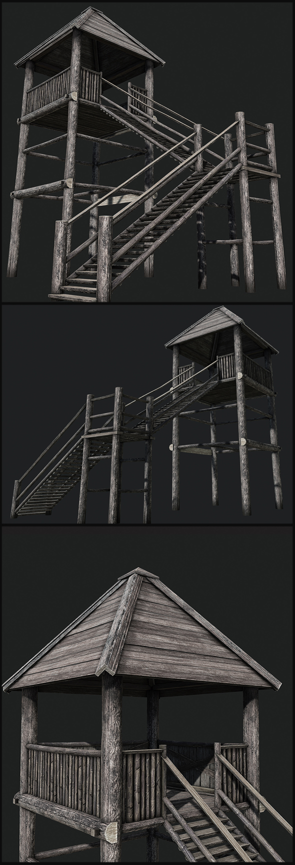 Viking Guard Tower - 3DOcean Item for Sale