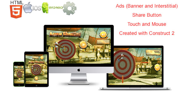 Arrow Shooter Pro Multi Platform - (Construct 2 - Capx) & Design - CodeCanyon Item for Sale