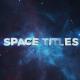 Space Motivational Titles - VideoHive Item for Sale