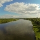 Flying Over The River. On The Horizon - VideoHive Item for Sale