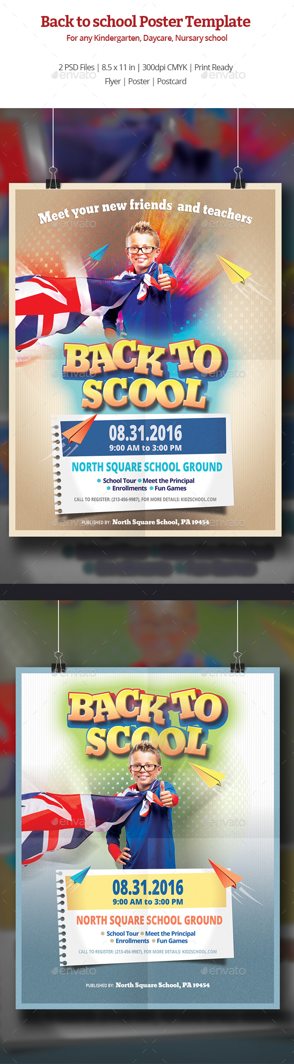 Back to School Poster Templates - Corporate Flyers