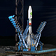 Night Rocket Launch - VideoHive Item for Sale