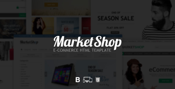 MarketShop – eCommerce HTML Template