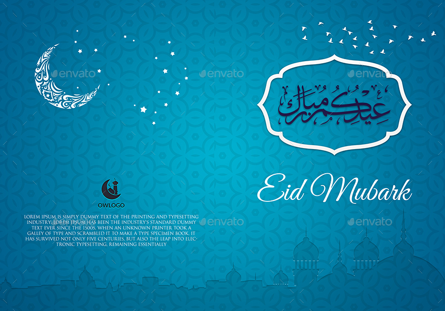 Eid Mubark Greeting Card Template By Owpictures | Graphicriver