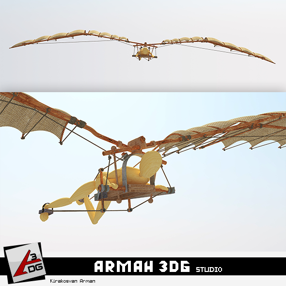 leonardo da vinci (flight) Models - 3DOcean Item for Sale