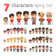 Seven Characters Aging Set - GraphicRiver Item for Sale