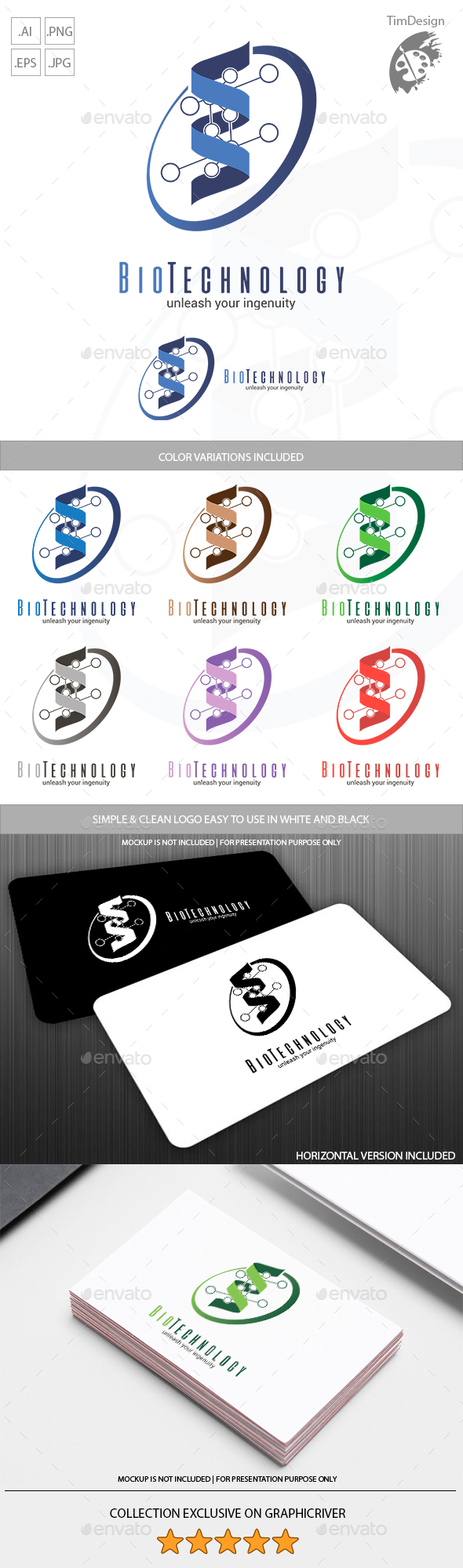 Biotechnology Logo - Objects Logo Templates