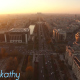 Aerial View Of Bucharest City Center At Dusk 2 - VideoHive Item for Sale