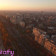 Aerial View Of Bucharest City Center At Dusk 3 - VideoHive Item for Sale