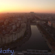 Aerial View Of Bucharest City Center At Dusk 12 - VideoHive Item for Sale
