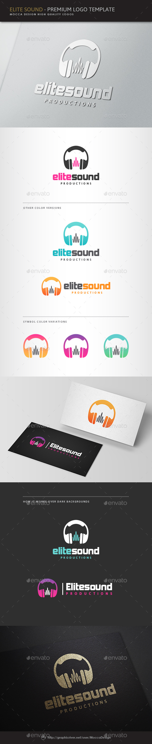 Elite Sound Logo - Symbols Logo Templates
