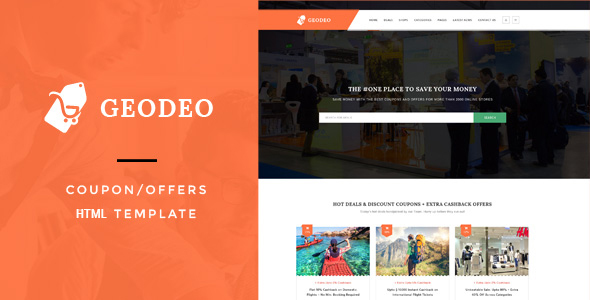 Geodeo - Coupon & Deals HTML Template