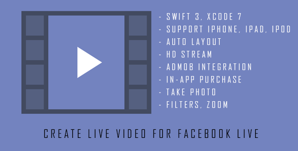 Live Video - Video streaming for Facebook Page (swift 3, in-app purchase) - CodeCanyon Item for Sale
