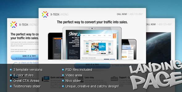 Free Download X-Tech Landing Page Nulled Latest Version