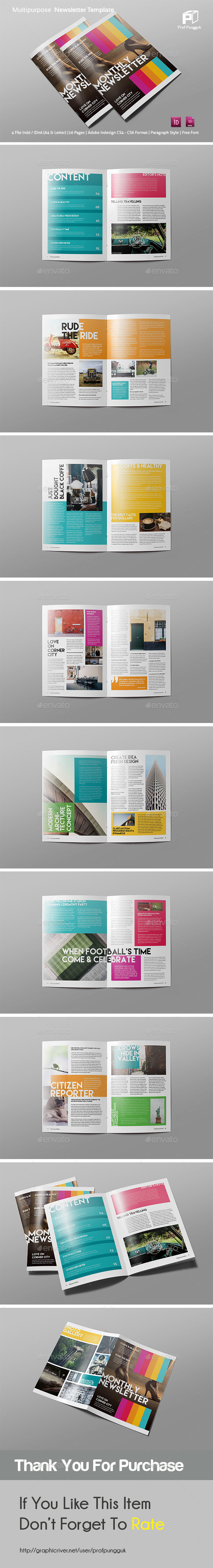 Modern colorful newsletter vol 3 by profpungguk for Modern newsletter design