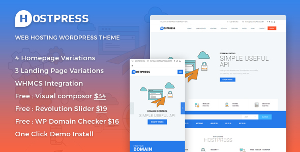 HostingPress – WHMCS Hosting WordPress Theme