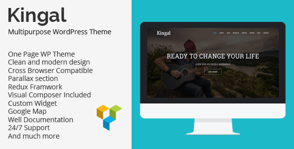 Kingal – MultiPurpose WordPress Theme