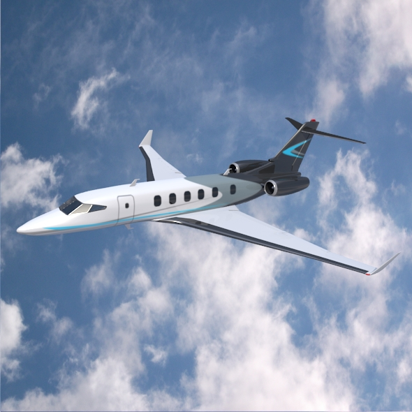 Private jet concept - 3DOcean Item for Sale