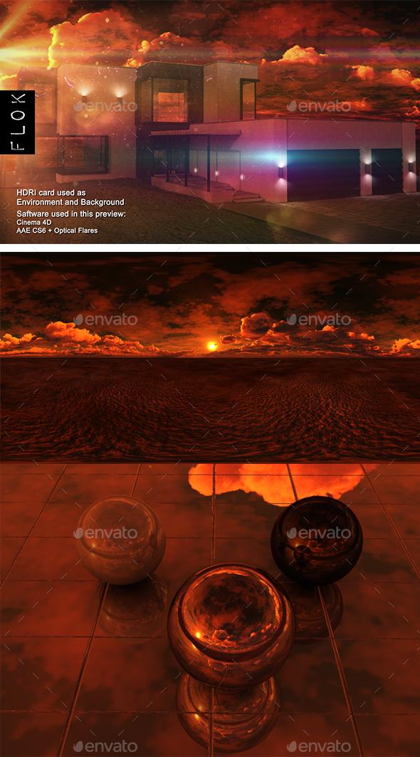 Sunset Desert 55 - 3DOcean Item for Sale